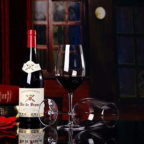 Transparant Loodvrij Kristal Bourgondië Wijnglas Set van 6 De Beste Keuze Rode Wijn Handgeblazen Gezond en Milieuvriendelijk Rood Wijnglas Geen merk