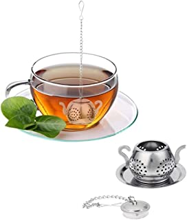 Loose Tea Infuser, Maserfaliw Stainless Steel Strainer Tea Infuser Filter Kettle Shaped Kitchen Drinking Tool - Silver, Practical Holiday Gifts And Essentials For Life.