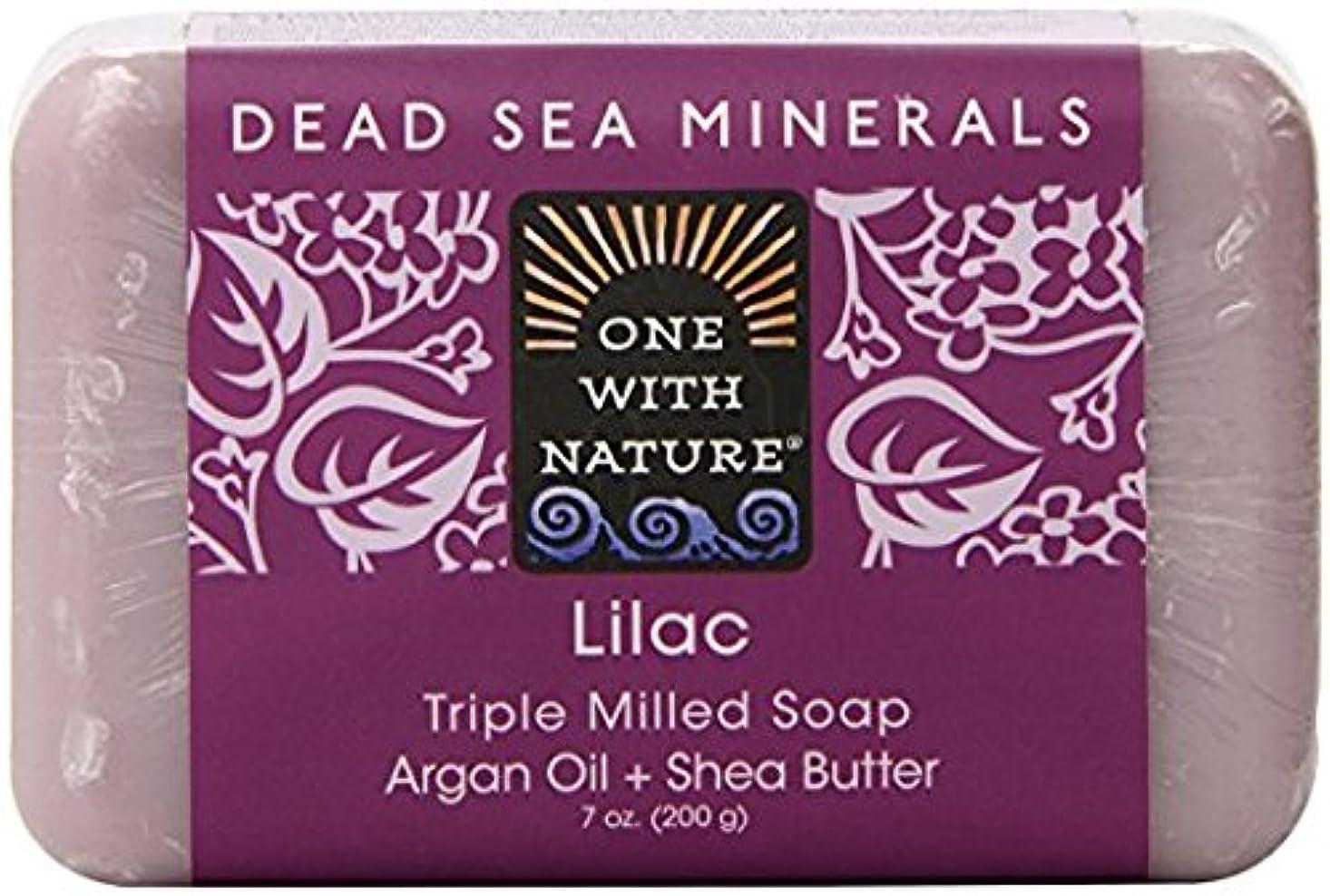 冗談でホステス好奇心海外直送品Dead Sea Mineral Bar Soap, Lilac 7 OZ by One with Nature