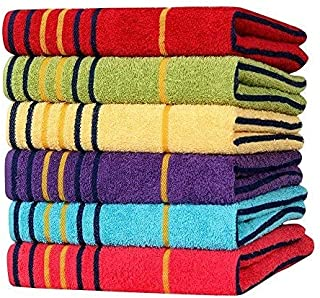 Cotton Towel 550 GSM (Set of 6, Multicolour)  Bathroom Towel Absorbent Small Towels for Hand,Face,Kitchen and Bath