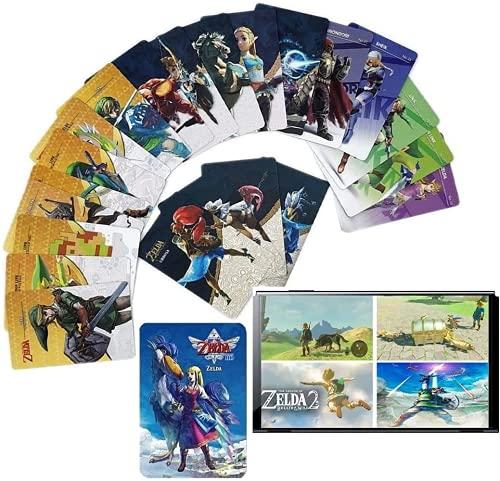 25er-Pack Amiibo-Karten der Zelda-Serie, Link-NFC-Karten-kompatible Switch-Spiele Skyward Sword HD, Breathe of The Wild.