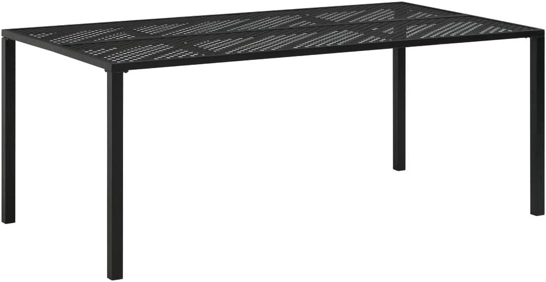 VidaXL Gartentisch Stahl 180x90x72cm Mesh Esstisch Metalltisch Terrassentisch