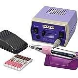 Eléctrico Taladro de uñas Máquina Manicura y pedicura Conjunto 65W 35000RPM Potente Pulidora para eliminar esmalte/gel/cutículas en uñas, recorte y adelgazamiento de uñas,Púrpura