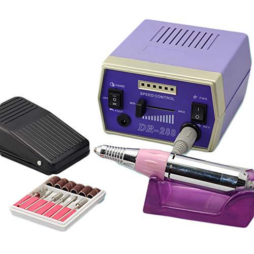 Elektrische nagel boormachine Manicure- en pedicureset 35000RPM Krachtige polijstmachine voor het verwijderen van nagellak/gel/nagelriemen op nagels, trimmen en dunner worden van nagels,Purple