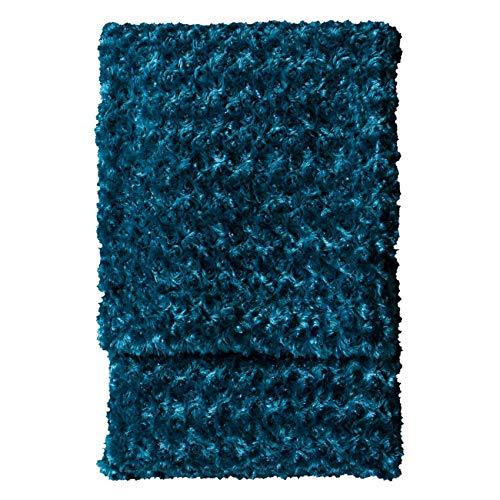Kilburn & Scott Faux Fur Blanket Throw Throwover Woodlander - Manta de Piel sintética (130 x 170 cm), Color Azul, Verde Azulado, 130x170cm