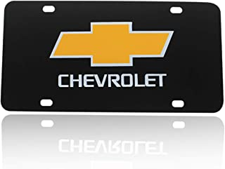 Funsport License Frame - Black Mirror Stainless Steel License Plate Cover for Car Accessories (Fit Chevrolet)