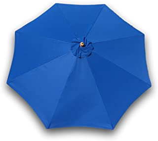 Formosa Covers 9ft Umbrella Replacement Canopy 8 Ribs in Royal Blue (Canopy Only)