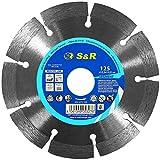 S&R Disco Corte Diamante 125 x 22,2 x 10 mm, 2,2 mm para Hormigón,...