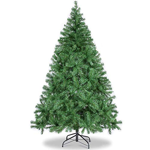 vantiorango 6FT Artificial Christmas Tree, 1000 Tips with Metal Stand, Xmas Pine Trees for Indoor Outdoor Festival Holiday Decoration