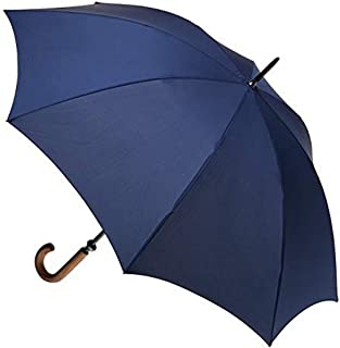 Clifton Umbrellas Navy large cover classic look with wood handle Umbrella, Navy Blue