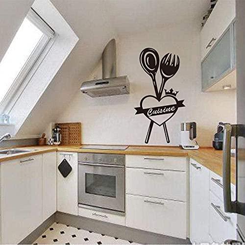 Pegatinas de cocina francesa Ma, papel tapiz de vinilo extraíble, Mural, arte de pared, azulejos de cocina, calcomanías de pared, decoración del hogar, póster de decoración 55x102cm