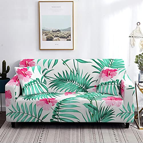 Sofa Cover Stretch 1 Seater Green Lawn Anti-Slip Sofa Slipcovers Chair 1-Piece Printed Couch Cover Soft Polyester Living Room Furniture Sofa Slipcover Protector Cover