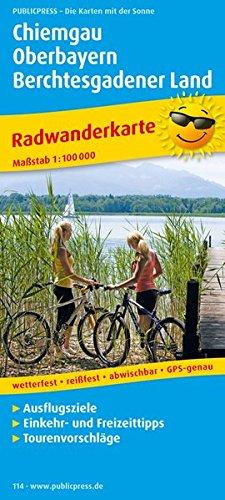 Chiemgau - Oberbayern - Berchtesgadener Land: Radkarte mit Ausflugszielen, Einkehr- & Freizeittipps, wetterfest, reißfest, abwischbar, GPS-genau. 1:100000