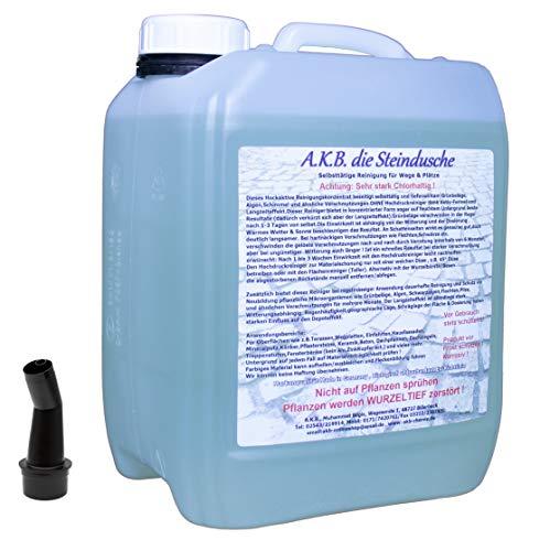 A.K.B.die Steindusche 5 Liter, 3525,Winterpreis Wegereiniger, Unkrautvernichter,Steinreiniger mit Langzeitwirkung