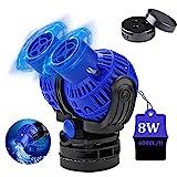 Bomba de Flujo para acuarios Wave Maker 6000L / H 8Watt Bomba de circulación JVP-230 Wave Maker 360 ° giratoria para acuarios de Agua Dulce y Salada de 80~100cm