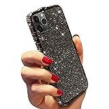 MoreChioce kompatibel mit iphone11 Pro Hülle Glitzer,kompatibel mit iphone11 Pro Handyhülle Stein,2 in 1 Schwarz Bling Diamant Rhinestone Silikon Schutzhülle Dual Layer Rundumschutz Bumper -