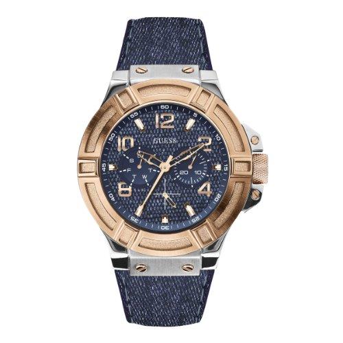 Guess Reloj con Movimiento mecánico japonés Man Rigor W0040G6 45 mm