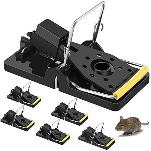 6 Pieza Trampa para Ratones,Trampa para Ratas y Ratones,Trampa para Ratones de jardín,Trampa para Ratones Reutilizable,Trampa para Ratones de Interior (A-6 Pieza)