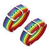 YUOXO Pulsera de Arcoíris Pulsera de Pareja Pulsera Ajustable para LGBT