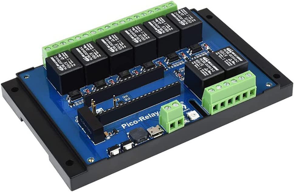 Industrial 8-Channel Relay Module for Raspberry Pi Pico, with Embedded Protections Power Supply & Photocoupler Isolation