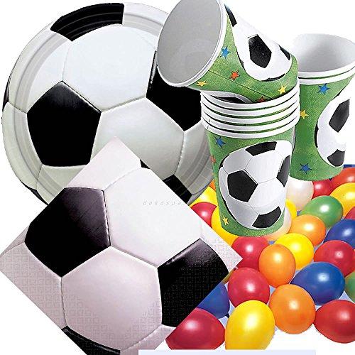 33 Pièces de football party assiettes en carton-confettis format xXL serviettes pour anniversaire tasse repas assiette papier fête décoration vaisselle jetable pour anniversaire d'enfant thème de football de la coupe du monde de football-eM