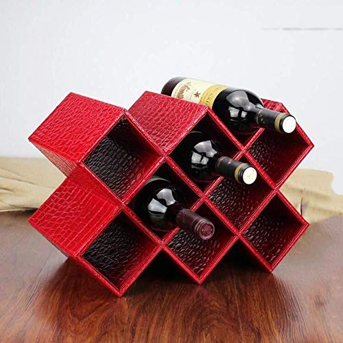 HJXSXHZ366 Estantería de Vino 6 Botellas de Estante de Rejilla Estante del Vino, Vino bastidores se Pueden Combinar depósito - Bar/hogar, Rojo Estante de Vino pequeño (Color : Red)
