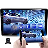 10.1 Inch Android Car Stereo Double Din GPS Navigation Stereo Bluetooth Car Radio Touch Screen WiFi FM AM Radio Dual USB Car MP5 Player Mirror Link Steering Wheel Control + Backup Camera