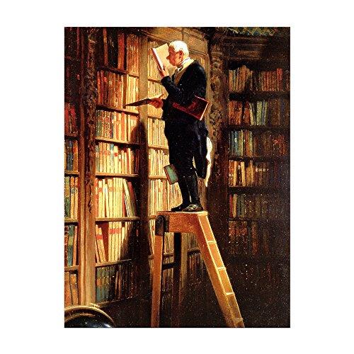 Kunstdruck – Der Bücherwurm – Carl Spitzweg -auf Leinwand - 6