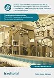 Operatividad con sistemas mecánicos, hidráulicos, neumáticos y eléctricos de máquinas e instalaciones para la transformación de polímeros y su mantenimiento. QUIT0209 - Op. trans. poli. termoplásticos