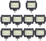 Leetop 10X Super Bright 36W Focos LED Coches Montaje de Luces de Antiniebla IP67 Impermeable LED...