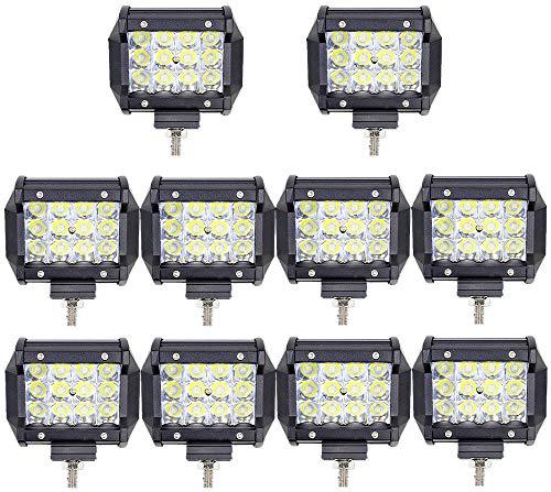 10X 36W Led Arbeitsscheinwerfer Off-Road Scheinwerfer Bar Fernlicht 12V 24V Lampen IP67 Wasserdicht Zusatzscheinwerfer Flutlicht für Auto Traktor