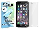 SDTEK *2 Pack Protection écran pour iPhone 8/7 / Se 2020 / 6s / 6 Verre Trempé Résistant aux...
