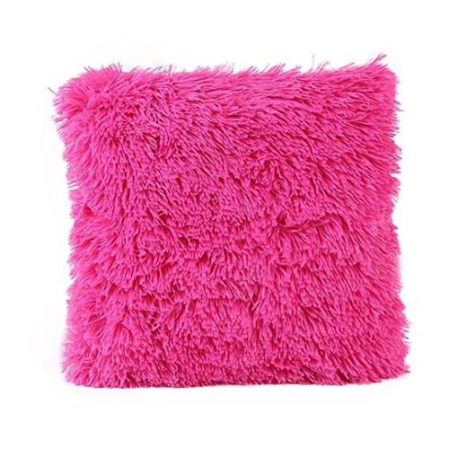 Sunnywill Kissen Fällen Sofa Taille Throw Kissen Cover Home Decor für Zuhause Nur Deckel (Hot Pink)