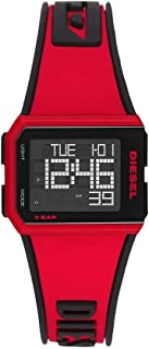 Diesel Chopped Men's Black Dial Silicone Digital Watch - DZ1923