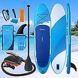 Vanku SUP hinchable con bomba eléctrica, juego de tabla de surf de remo de 11 pulgadas de longitud...