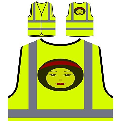 Señora De La Moda Mujer París Chaqueta de seguridad amarillo personalizado de alta visibilidad o605v