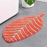 HelloTree Cute Doormat for Kids - Microfiber Absorbent Bathroom Mats - Front Door Mat Carpet Floor Rug, Leaf Shape