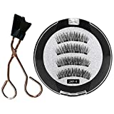 8D Quantum Magnetic Eyelashes with Soft Magnet Technology Beauty,Glue-free Magnetic Eyelash Clip,Easily Apply Magnetic Eyelash Curler (A)