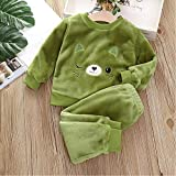 Children's Pajamas Winter Thick Clothes Children's Flannel Pajamas Boys and Girls Warm Pajamas Children's Pajamas