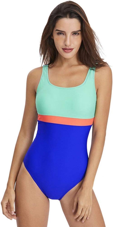 6f90af87aa Badeanzug Frauen Einteiler Monokini Swimwear Ärmellos Niedriger Rücken  Farbeblock Stripe Bauchkontrolle Badeanzüge Bikini Beachwear Stretchy  Badeanzug