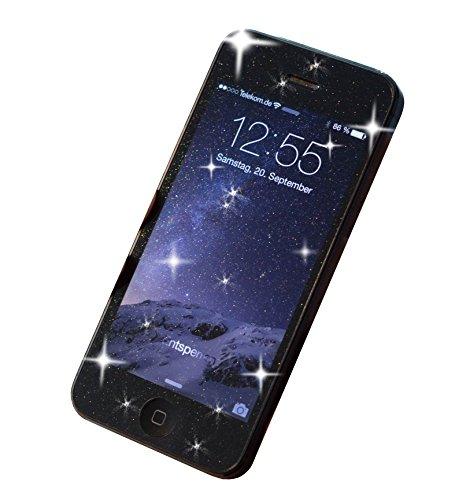 grooveclip Glitzer Schutzfolie für iPhone Xr   Der Glamour-Look für's Smartphone mit elegantem Diamantkristall-Funkel-Effekt für einzigartigen Style und Schutz