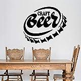 KAITANG Botella Cap Home Bar Pub Artesanía Cerveza Alcohol Vinilo Decoración para el Hogar Pegatinas Extraíbles Mural Arte Diseño 50x42cm