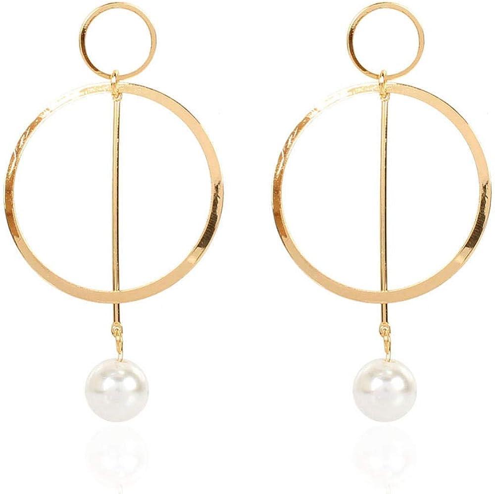 Cuff Earringspearl Earrings Round Earrings Simple Personality Cross-Border Ear