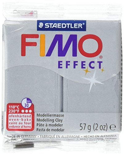 Staedtler FIMO Effet polymère, Argile, 56,7 Gram, Argenté métallique