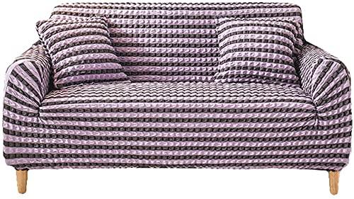 QZMX Funda de sofá elástica para sofá, funda de sofá para sala de estar, fundas de sillón, fundas de sofá, fundas para muebles, suave y gruesas, tela jacquard lavable, F, fundas de sofá de 2 asientos