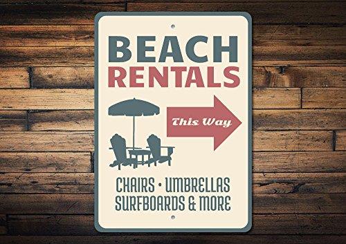 Yilooom Beach Rentals Sign, Strand Stoel Sign, Verhuur Pijl Sign, Beach Condo Sign, Openbaar Strand Sign, Beach Club Sign, Kwaliteit Aluminium Beach Signs