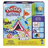 Play-Doh Builder-Kit de construcción para niños a Partir de 5 años con 8 Colores Camping. (Hasbro F0642)