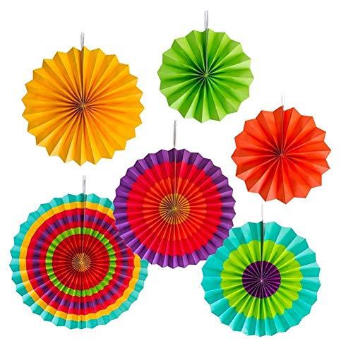6 Stks/Set Papier Fans Grosso Mexicaanse Fiesta Party Decor Bloemen Hanging DIY Papier Achtergrond Doek Party Fan