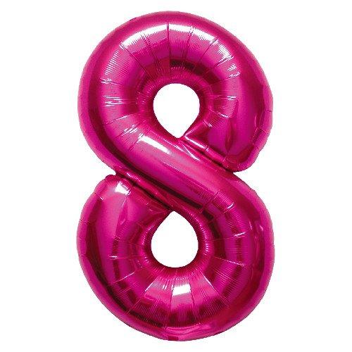 Northstar folieballon 00142 nummer 8-magenta, 86,4 cm roze