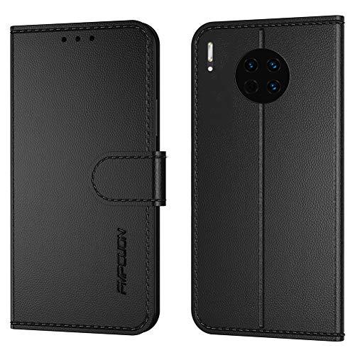 FMPCUON Cover per Huawei Mate 40 PRO,Flip Case in Pelle PU Premium Custodia Caso Custodie cellulari per Huawei Mate 40 PRO - Nero